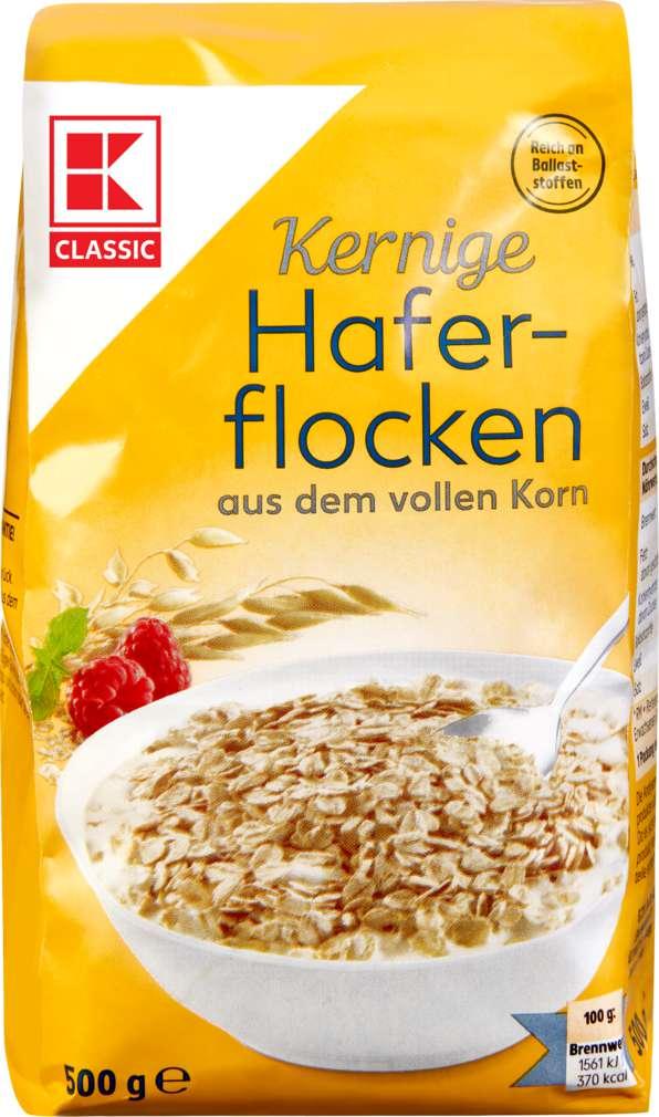 Abbildung des Sortimentsartikels K-Classic Kernige Haferflocken 500g