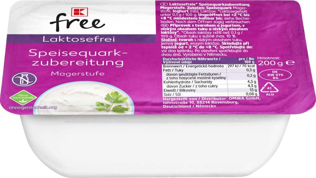 Abbildung des Sortimentsartikels K-Free Laktosefrei Speisequarkzubereitung Magerstufe 200g