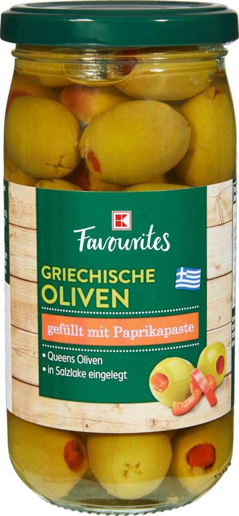 Abbildung des Sortimentsartikels K-Favourites Griechische Oliven mit Paprikapaste 350g