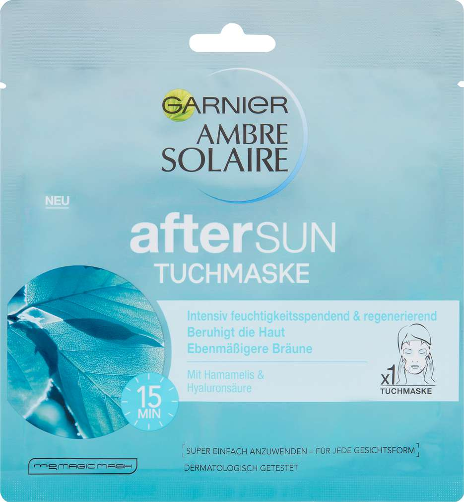 Abbildung des Sortimentsartikels Garnier Ambre Solaire Tuchmaske Aftersun