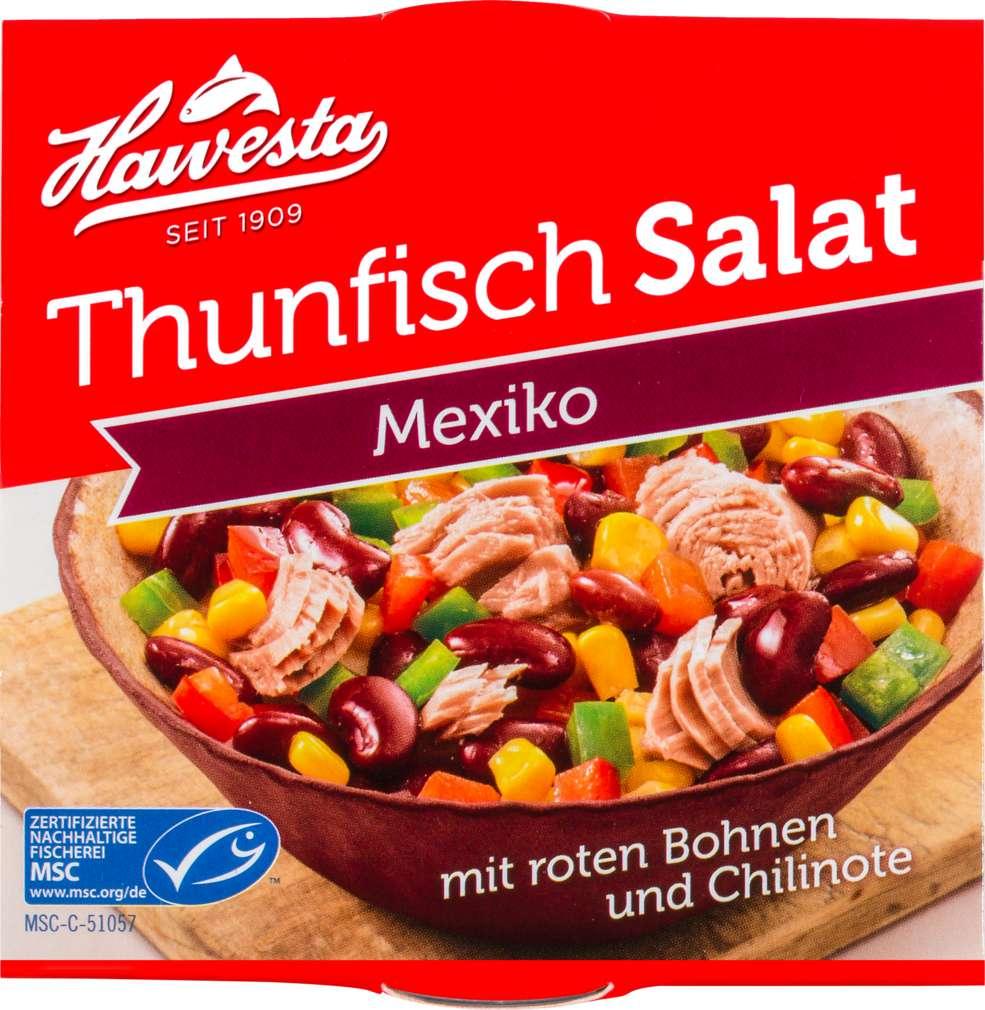 Abbildung des Sortimentsartikels Hawesta MSC Thunfisch Salat Mexico