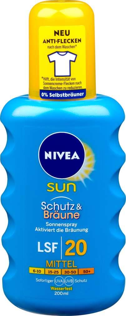 Abbildung des Sortimentsartikels Nivea Sun Spray Schutz & Bräune LSF 20 200ml