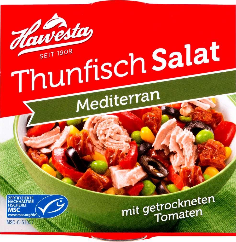 Abbildung des Sortimentsartikels Hawesta MSC Thunfisch Salat Mediterran 160g