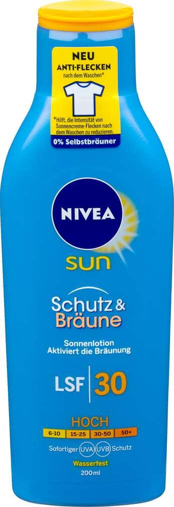 Abbildung des Sortimentsartikels Nivea Sun Sonnenmilch LSF30 Schutz & Bräune 200ml