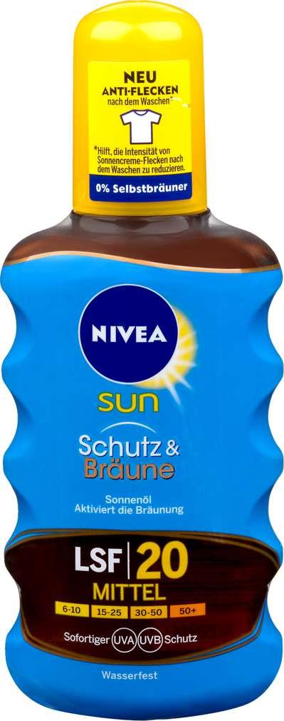Abbildung des Sortimentsartikels Nivea Sun Ölspray Schutz & Bräune LSF 20 200ml