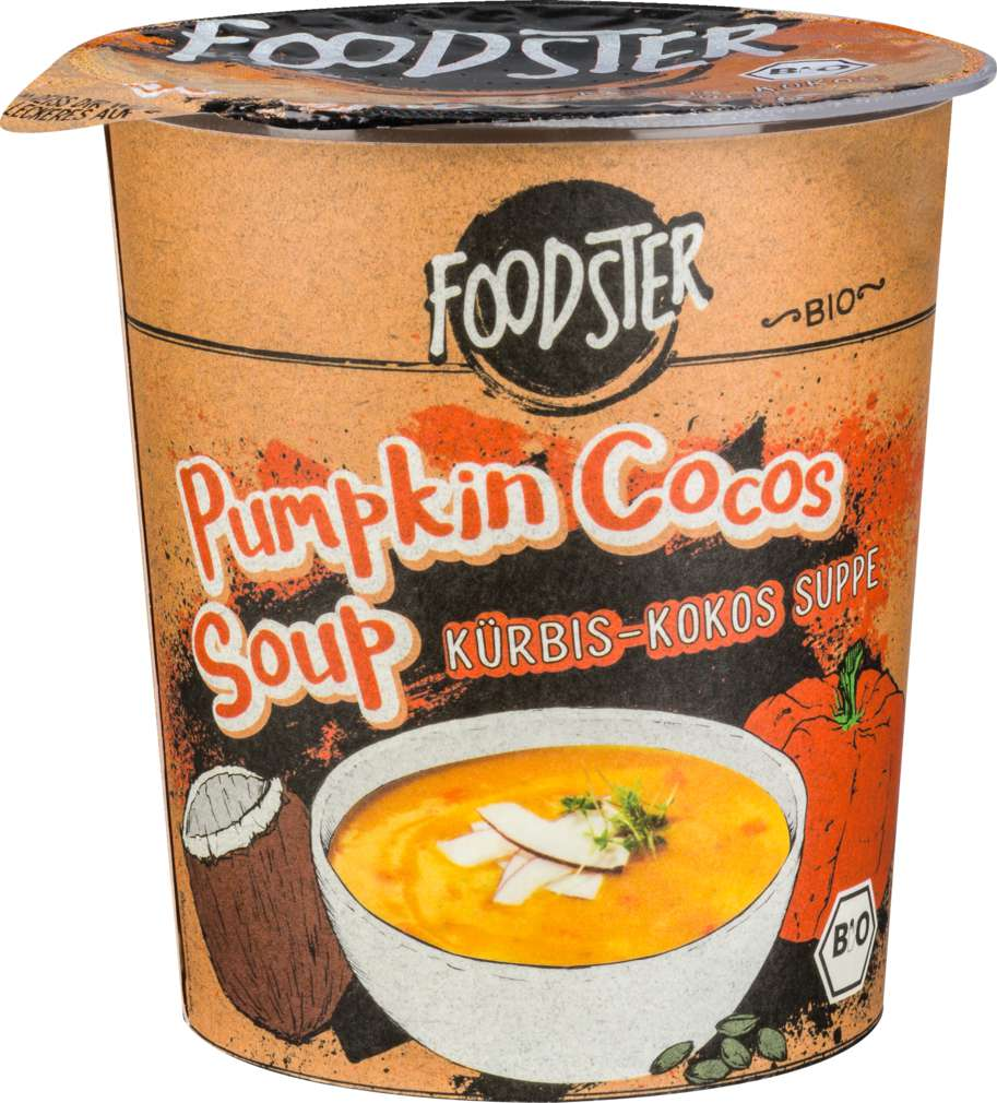 Abbildung des Sortimentsartikels Foodster Bio-Fertiggericht Pumpkin Cocos Soup 50g