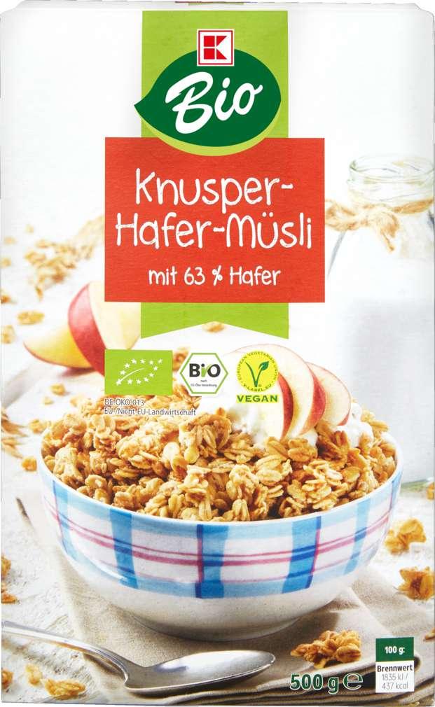 Abbildung des Sortimentsartikels K-Bio Bio-Knusper-Müsli Hafer 500g