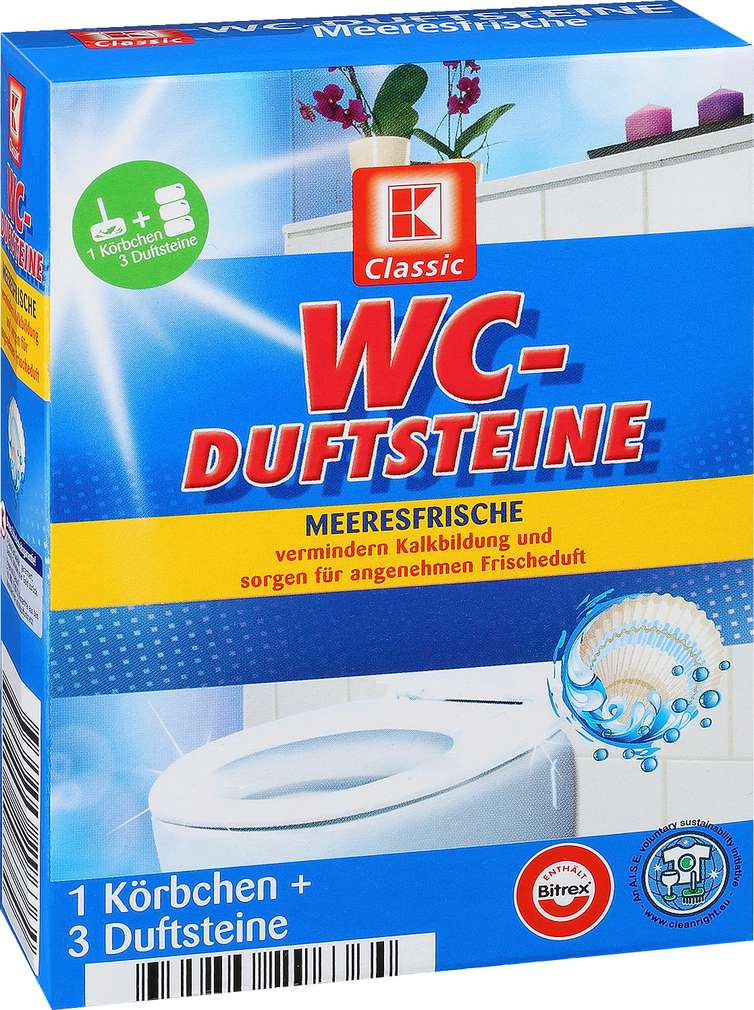 Abbildung des Sortimentsartikels K-Classic WC-Duftsteine Meeresfrische 3x40g