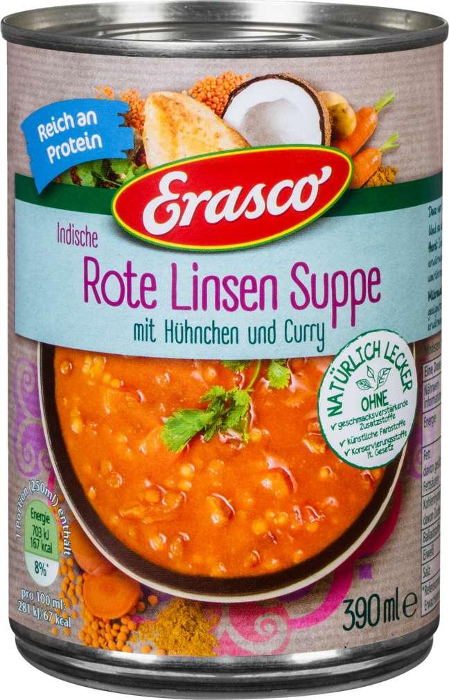 Abbildung des Sortimentsartikels Erasco Rote Linsen-Suppe 390ml
