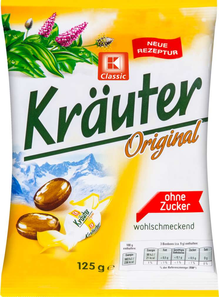 Abbildung des Sortimentsartikels K-Classic Kräuter Original Bonbons 125g