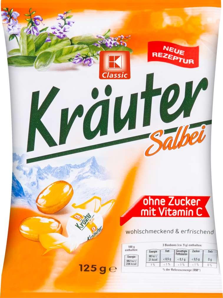 Abbildung des Sortimentsartikels K-Classic Kräuter-Salbei Bonbons 125g
