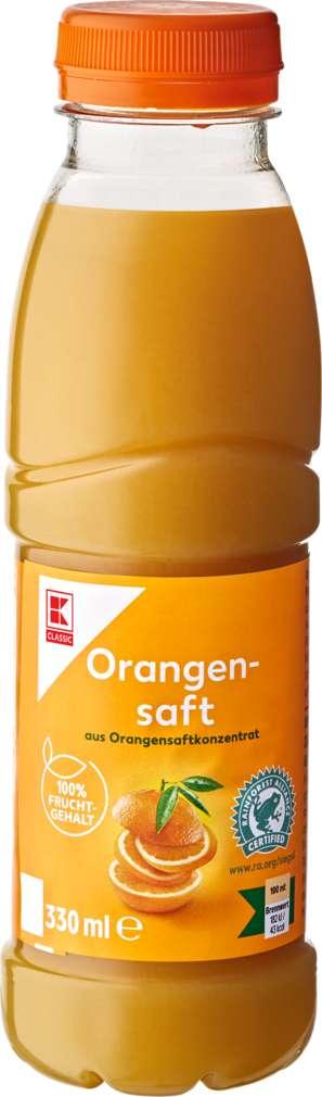Abbildung des Sortimentsartikels K-Classic Orangensaft 0,33l
