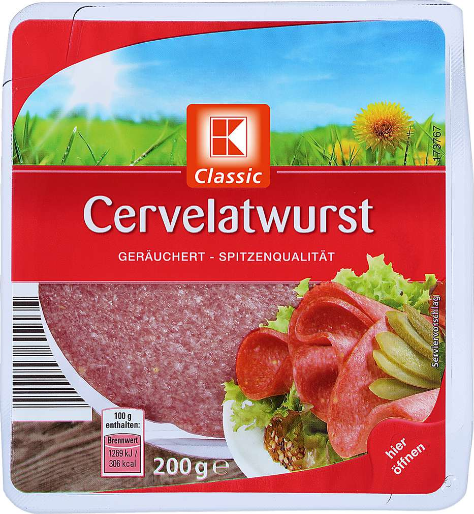 Abbildung des Sortimentsartikels K-Classic Cervelatwurst 200g