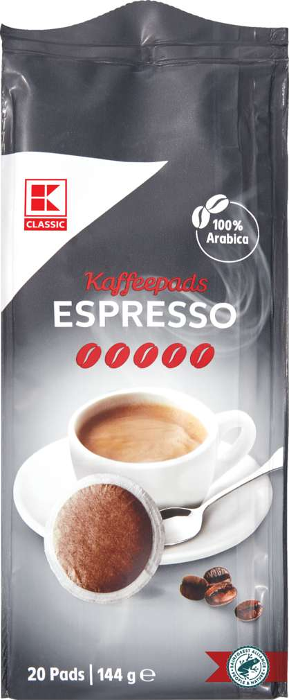 Abbildung des Sortimentsartikels K-Classic Kaffeepads Espresso 144g