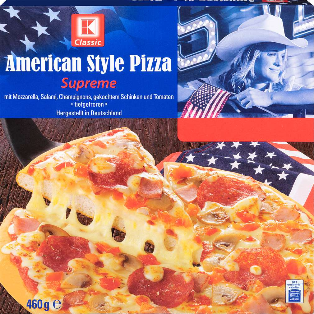 Abbildung des Sortimentsartikels K-Classic American Style Pizza Supreme 460g