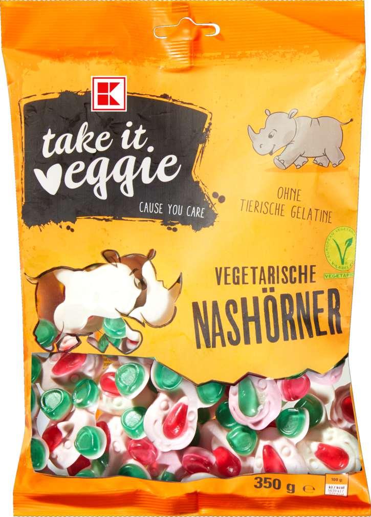 Abbildung des Sortimentsartikels K-Take it Veggie Fruchtgummi Nashörner 350g