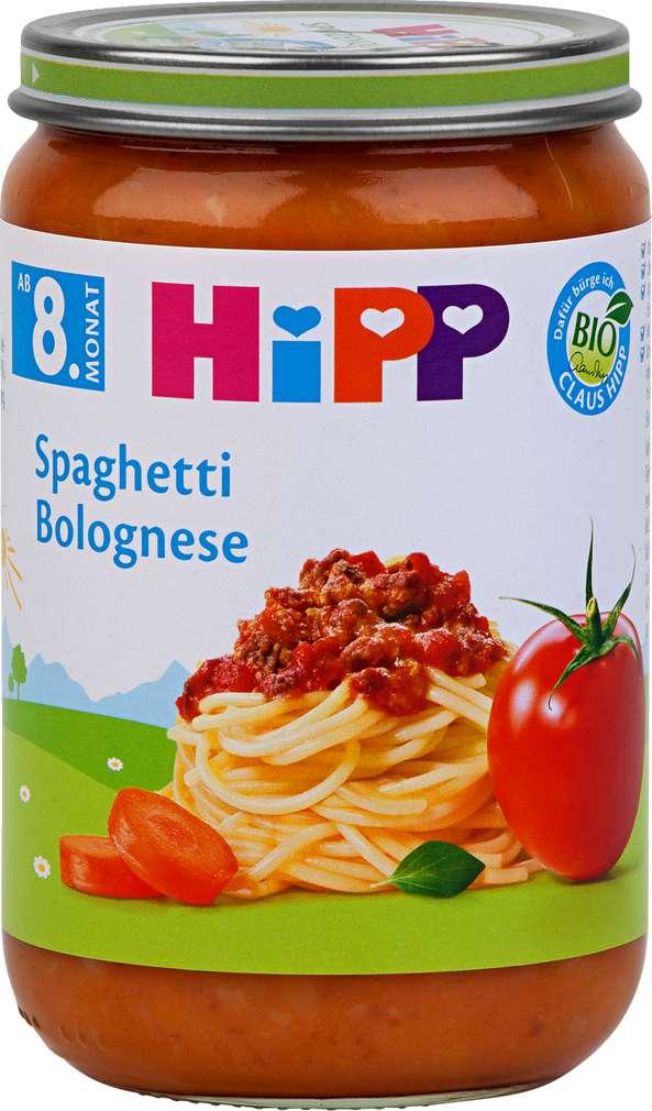 Abbildung des Sortimentsartikels Hipp Spaghetti Bolognese 220g