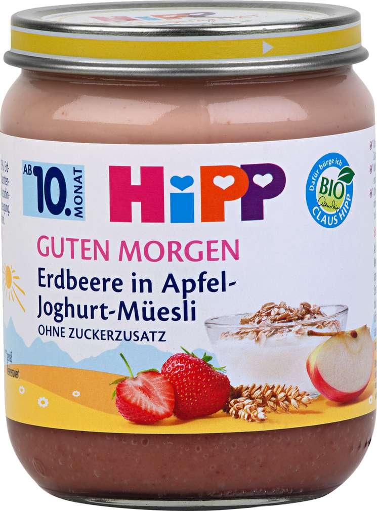 Abbildung des Sortimentsartikels Hipp Guten Morgen Erdbeere in Apfel-Joghurt-Müesli 160g