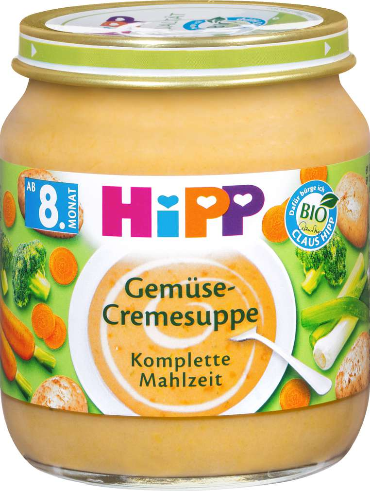 Abbildung des Sortimentsartikels Hipp Gemüse-Cremesuppe 200g