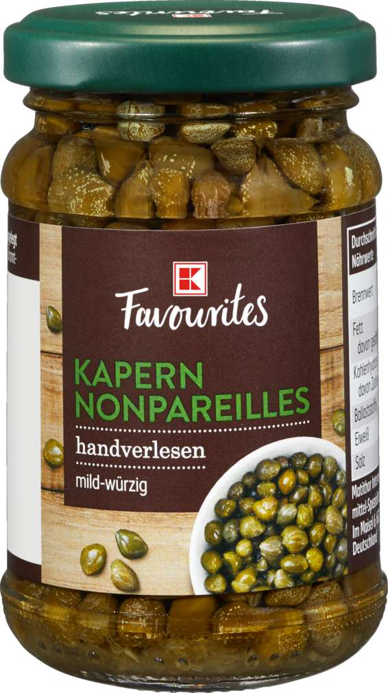 Abbildung des Sortimentsartikels K-Favourites Kapern Nonpareilles 100ml