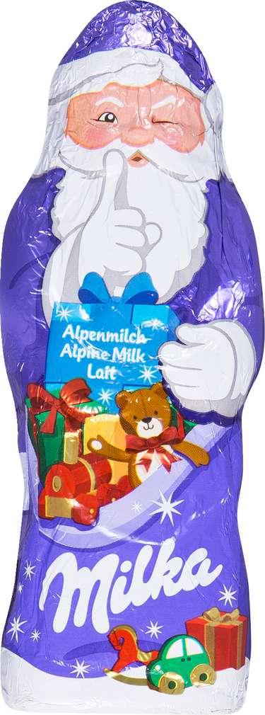 Abbildung des Sortimentsartikels Milka Alpenmilch Weihnachtsmann 100g