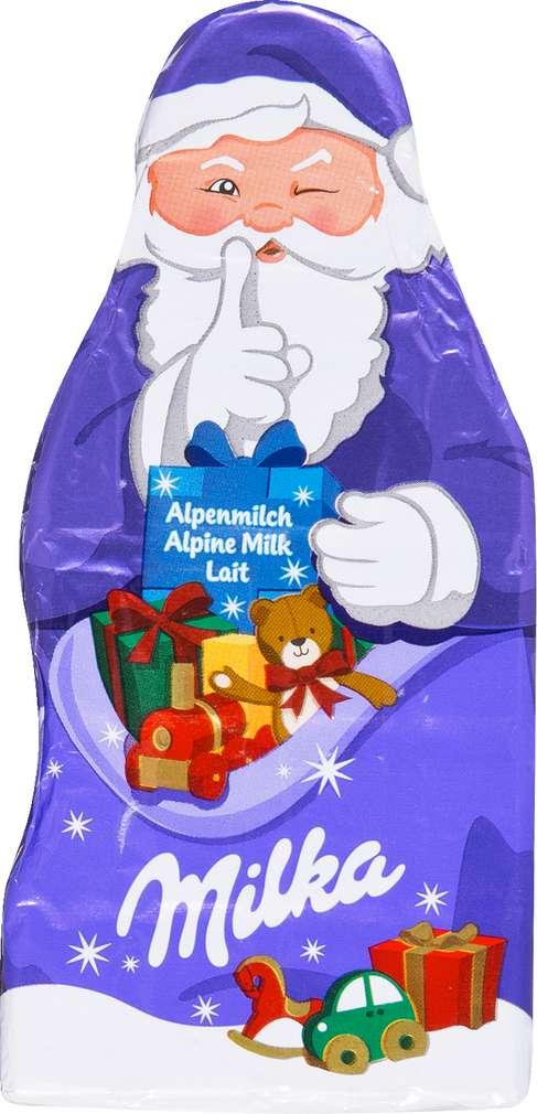 Abbildung des Sortimentsartikels Milka Weihnachtsmann Tafel 85g