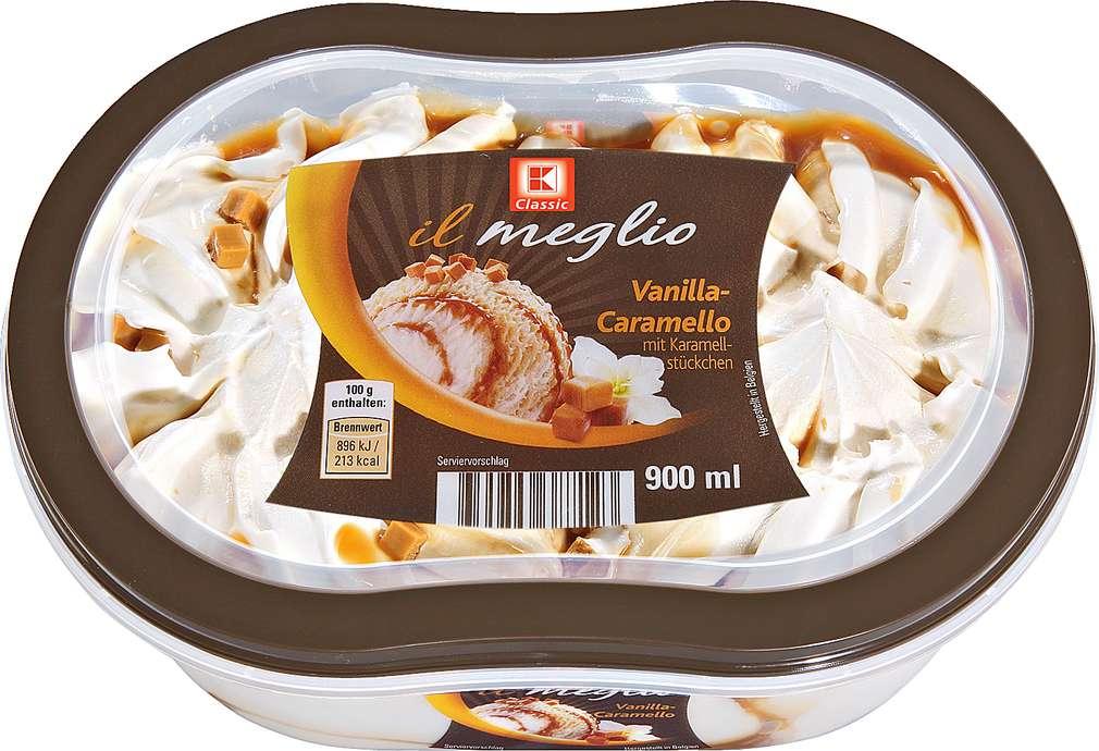 Abbildung des Sortimentsartikels K-Classic Il meglio Vanilla-Caramello Eis 900ml
