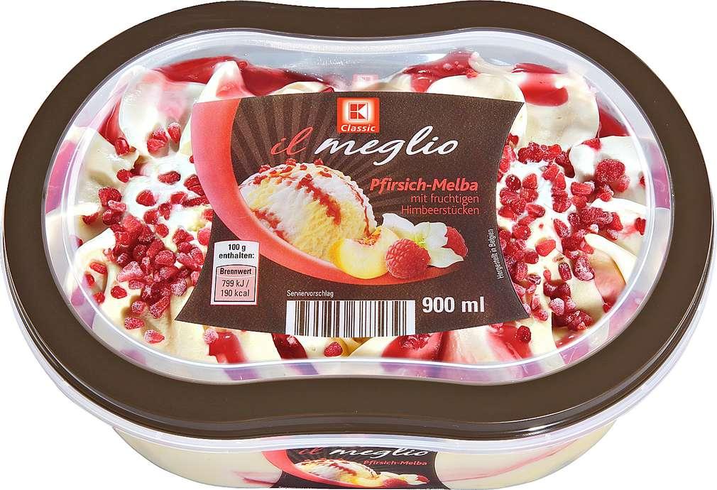 Abbildung des Sortimentsartikels K-Classic Il meglio Pfirsich-Melba Eis 900ml