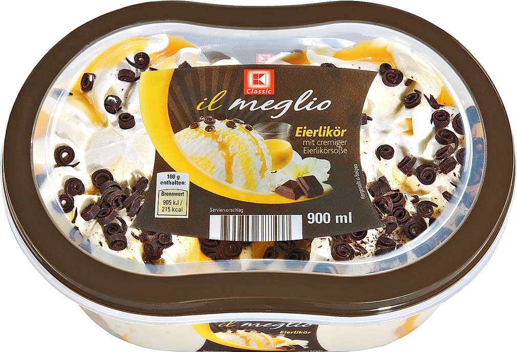 Abbildung des Sortimentsartikels K-Classic Il Meglio Eierlikör Eis 900ml
