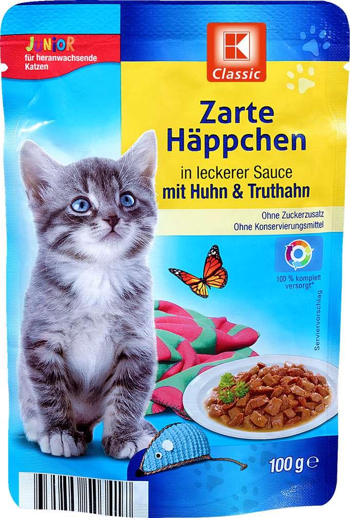 Abbildung des Sortimentsartikels K-Classic Zarte Häppchen Huhn+Truthahn 100g