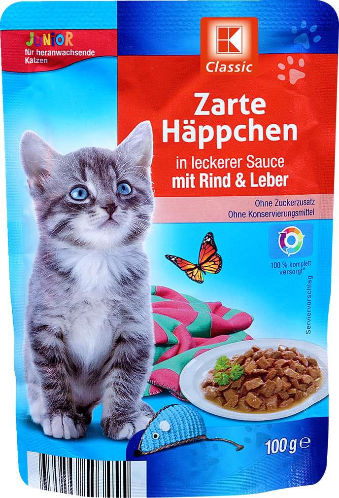 Abbildung des Sortimentsartikels K-Classic Zarte Häppchen Rind+Leber 100g