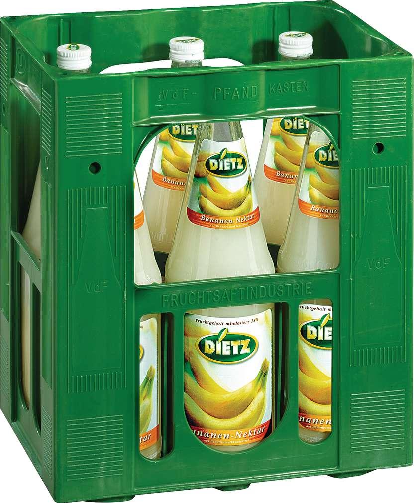 Abbildung des Sortimentsartikels Dietz Bananen-Nektar 6x1l