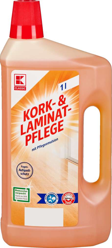 Abbildung des Sortimentsartikels K-Classic Kork- und Laminatpflege 1l