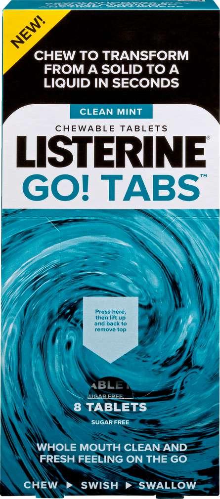 Abbildung des Sortimentsartikels Listerine Kautabletten Go! Tabs 8 Stück