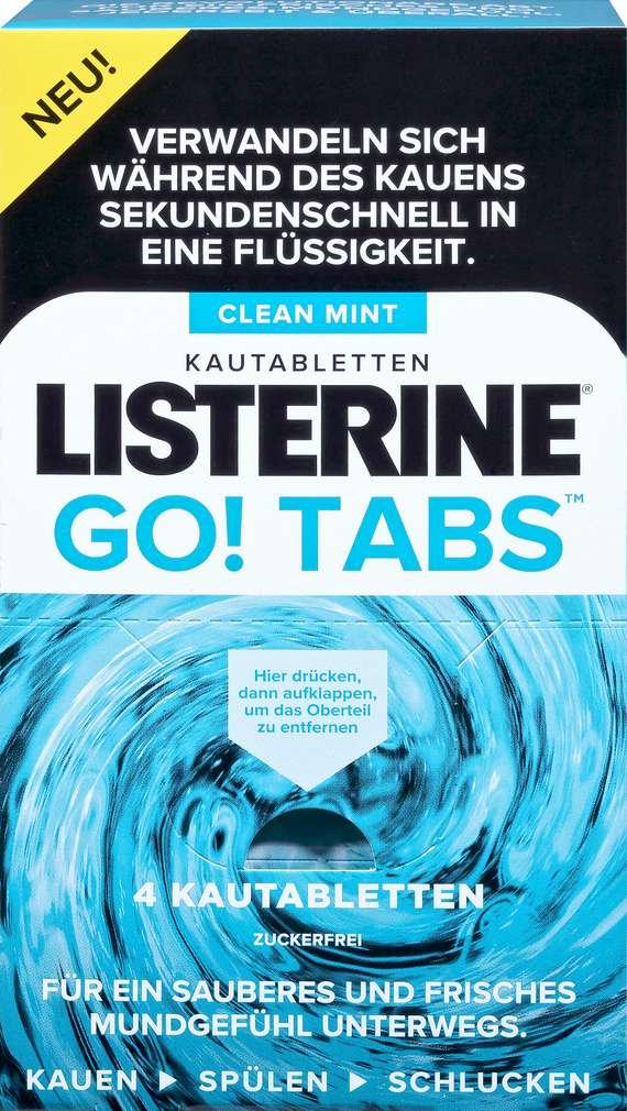 Abbildung des Sortimentsartikels Listerine Kautabletten Go! Tabs 4 Stück