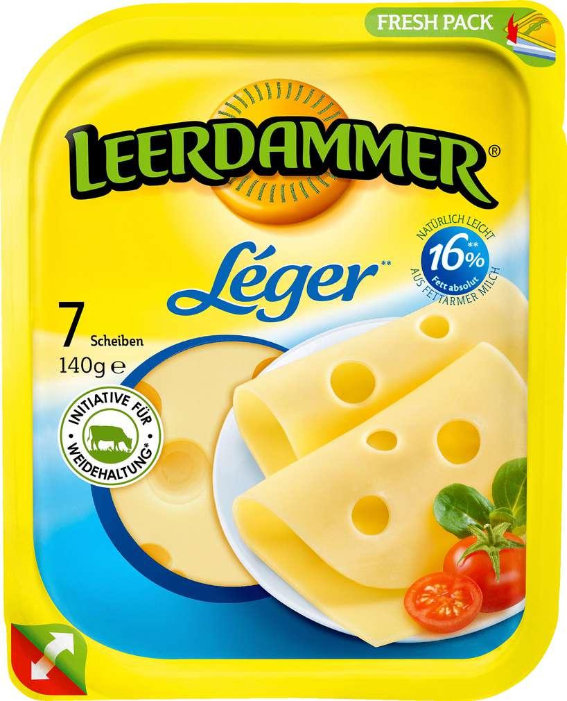Abbildung des Sortimentsartikels Leerdammer Léger 7 Scheiben 140g