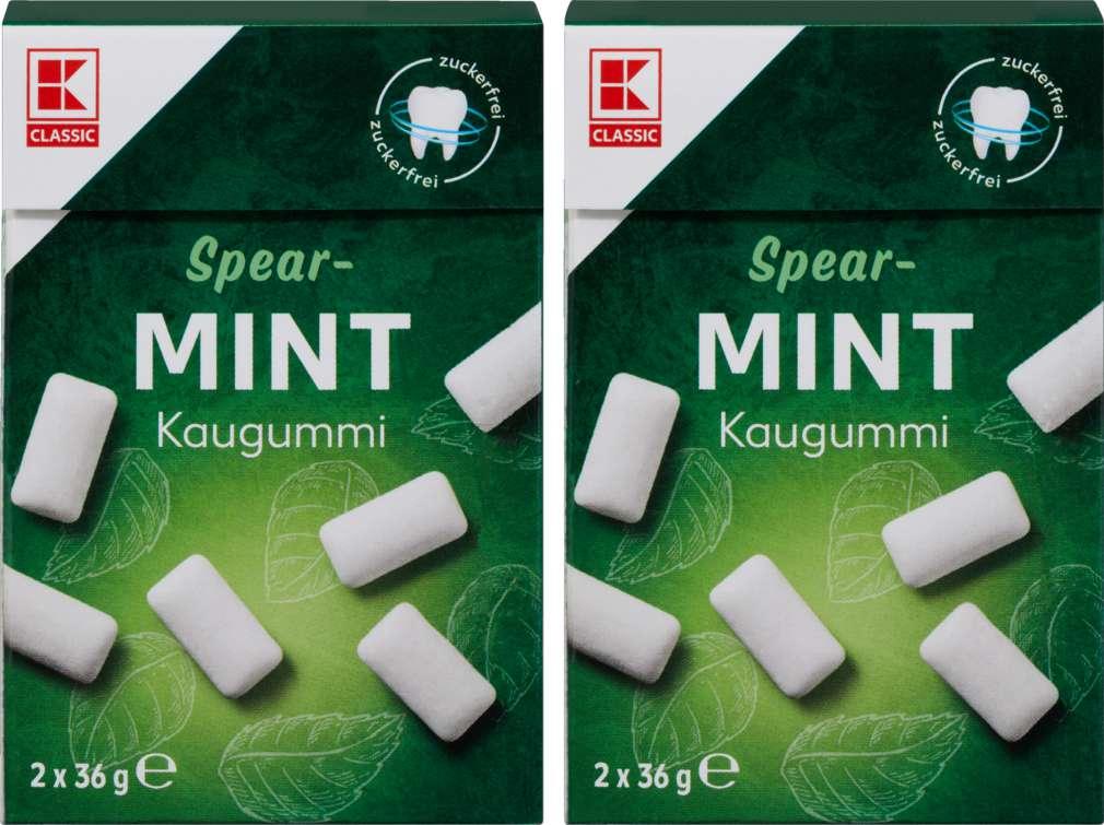 Abbildung des Sortimentsartikels K-Classic Chewing Gum Spearmint, ohne Zucker 2x36g
