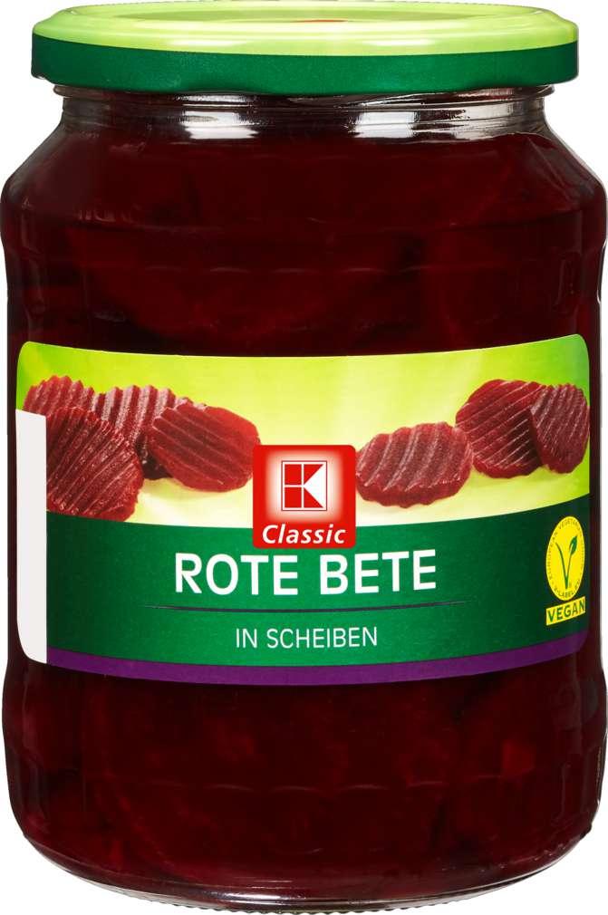 Abbildung des Sortimentsartikels K-Classic Rote Bete in Scheiben 720ml