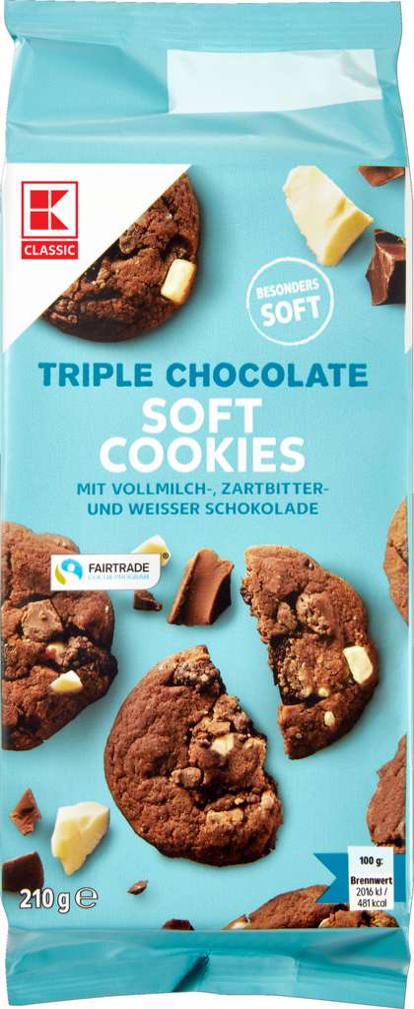Abbildung des Sortimentsartikels K-Classic Farmer Soft Chocolate Cookies 210g