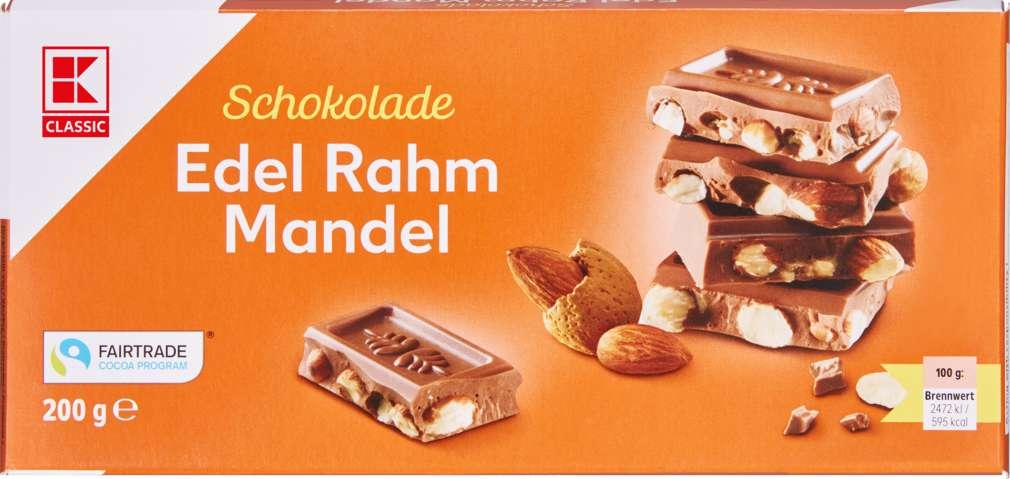 Abbildung des Sortimentsartikels K-Classic Edelrahm Mandel Schokolade 200g