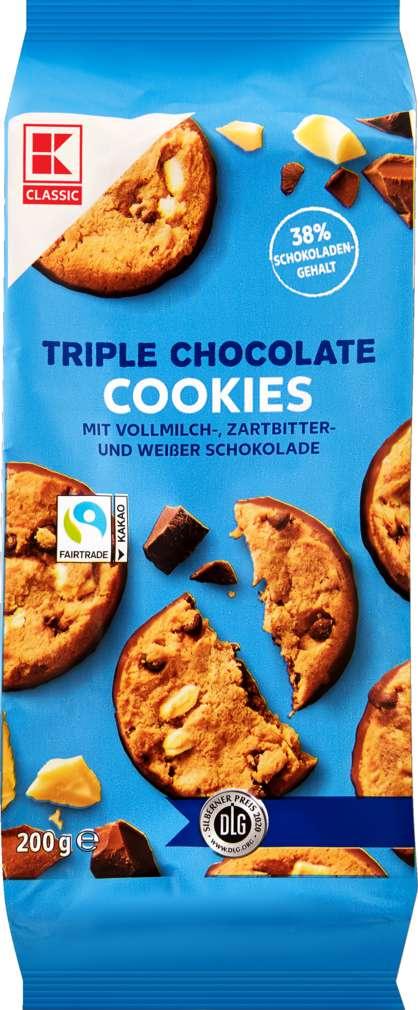 Abbildung des Sortimentsartikels K-Classic Farmer Cookies Triple Chocolate 200g