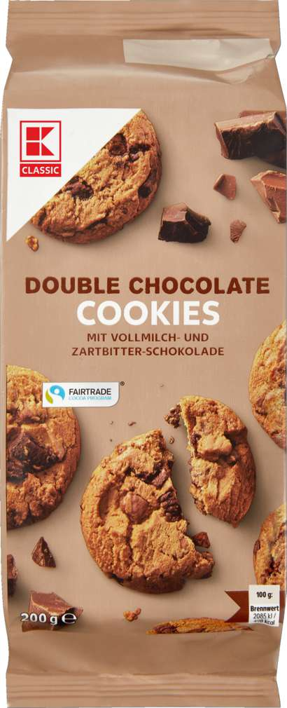 Abbildung des Sortimentsartikels K-Classic Farmer Cookies Double Chocolate 200g