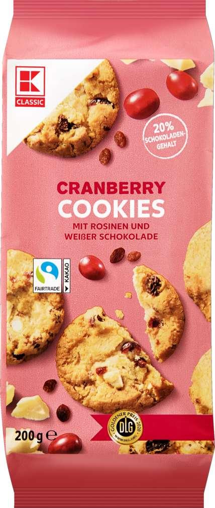 Abbildung des Sortimentsartikels K-Classic Farmer Weight Chocolate/Cranberry Cookies 200g