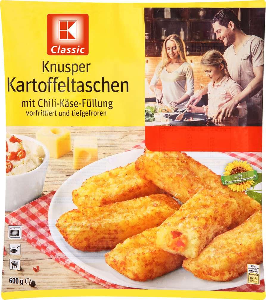 Abbildung des Sortimentsartikels K-Classic Kartoffeltaschen Chili / Cheese 600g