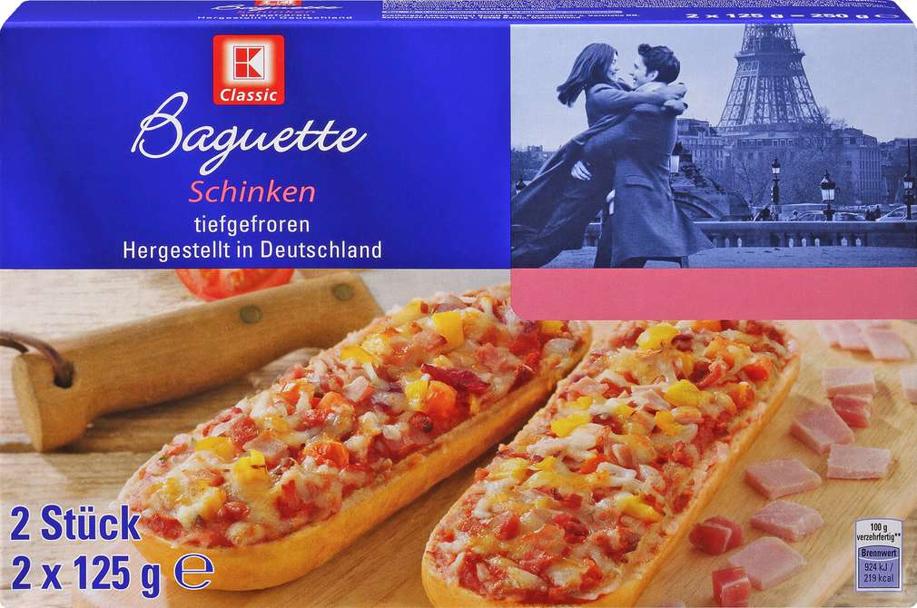 Abbildung des Sortimentsartikels K-Classic Baguette Schinken 250g
