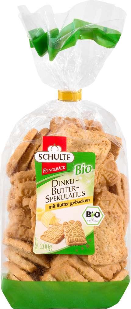 Abbildung des Sortimentsartikels Schulte Bio-Butter-Spekulatius mit Butter gebacken 200g