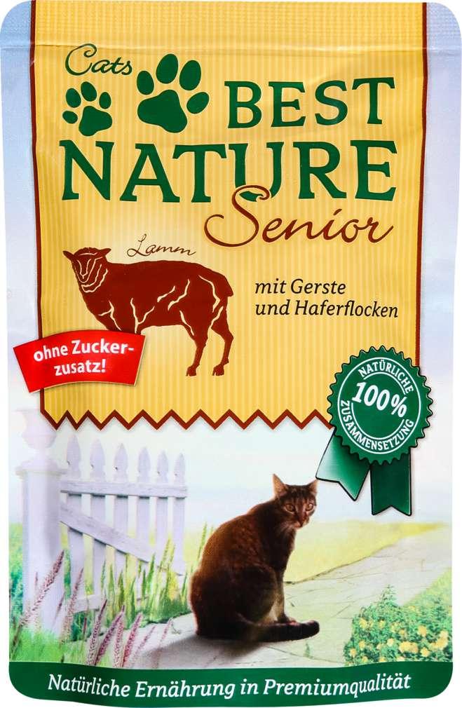 Abbildung des Sortimentsartikels Best Nature Senior Katzennahrung Lamm/Gerste 85g