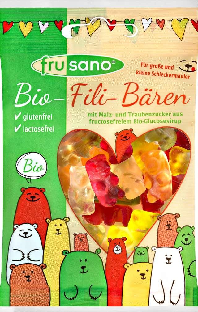 Abbildung des Sortimentsartikels Frusano Bio Fili Bären fructosearm 50g