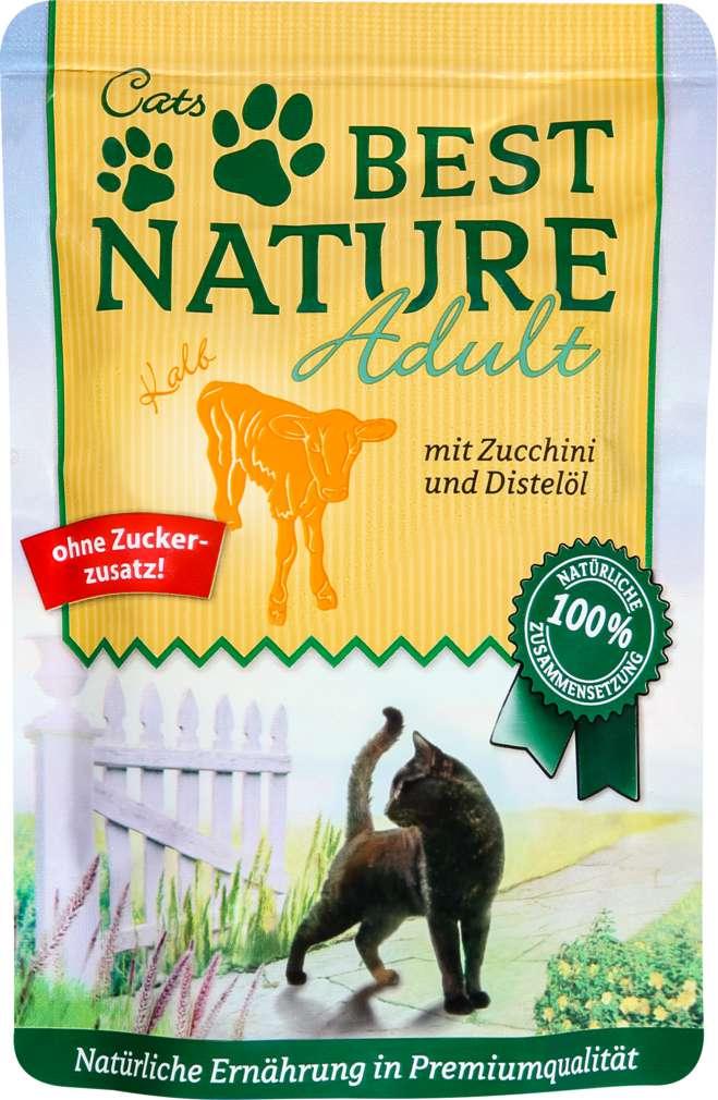 Abbildung des Sortimentsartikels Best Nature Katzennahrung Kalb/Zucchini 85g