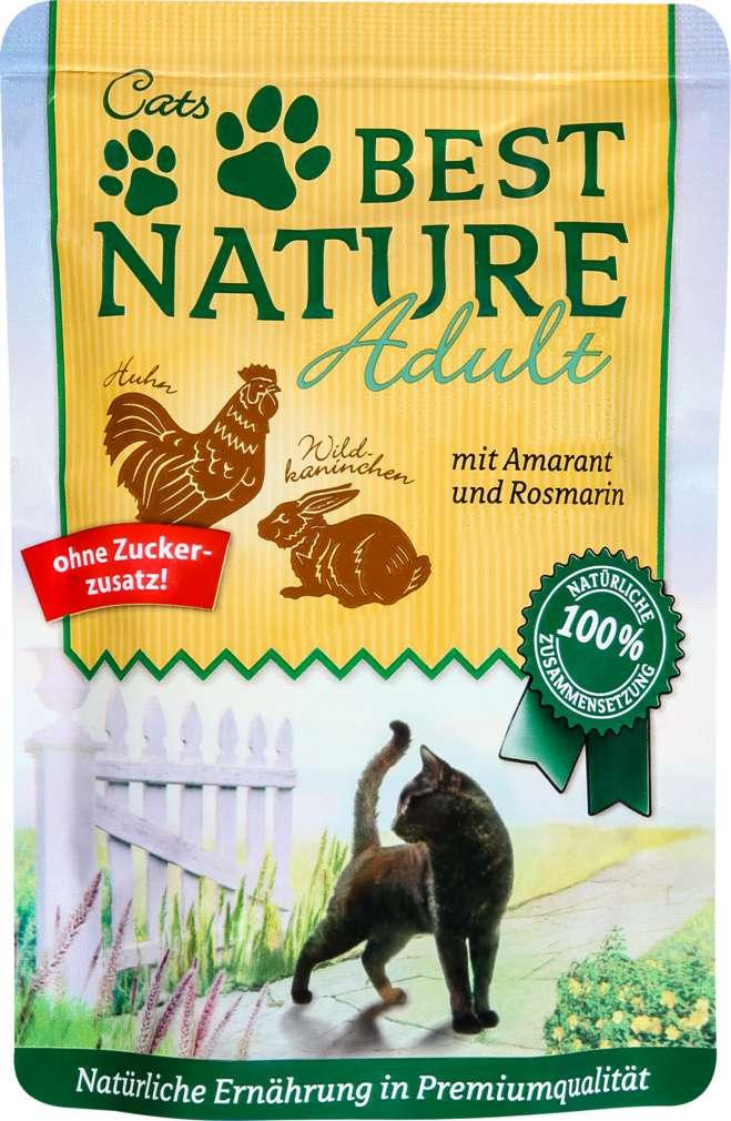 Abbildung des Sortimentsartikels Best Nature Katzennahrung Wildkaninchen/Huhn 85g